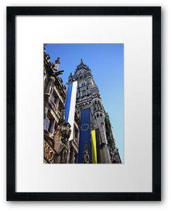 Integrating Europe © Liz Collet, München, Rathaus, Bayern, Europa, Bayern, Beflaggung, Flagge, Bayerische Fahne, Münchner Fahne, Europäische Fahne