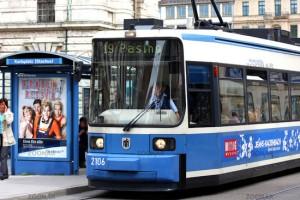 Tram  © Liz Collet , Verkehrsbetriebe, München, MVG, Strassenbahn, öffentlicher Nahverkehr