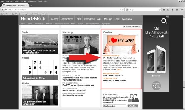 Handelsblatt Online 10.9.2014 Screenshot 2