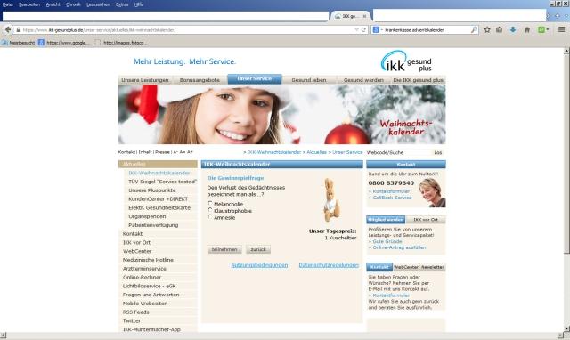 Individualisierte Beratung und Therapie IKK 15.12.2014